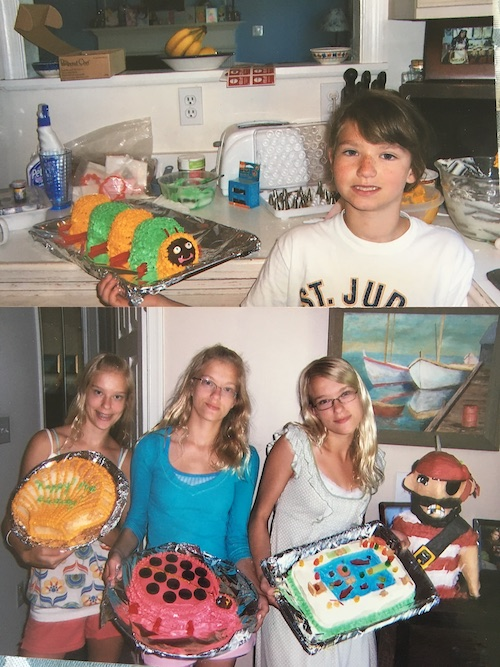 kamosa triplets with cakes