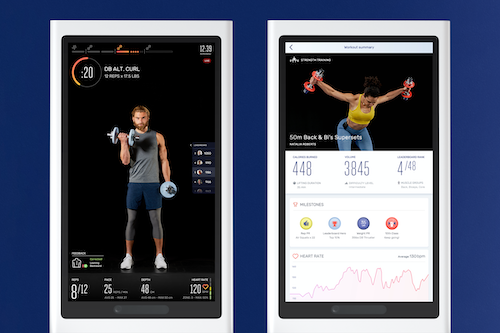 Tempo fitness mirror user interface