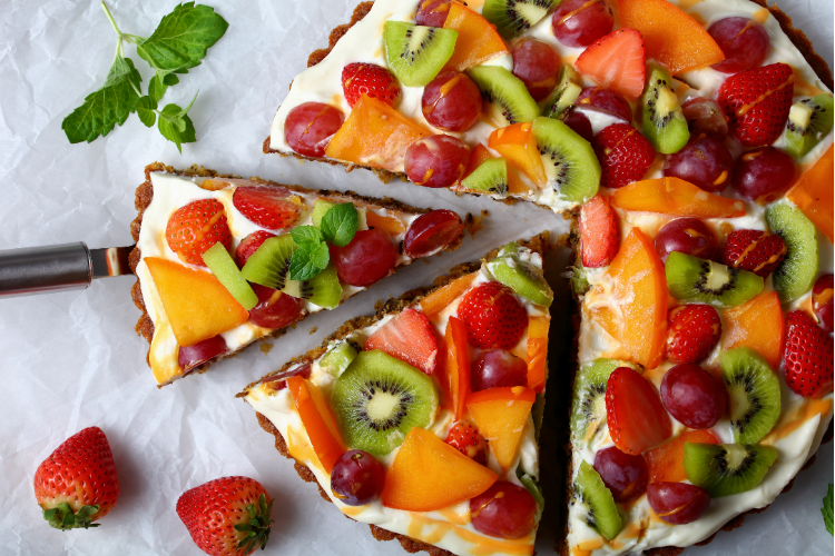 fruit pizza healthy dessert