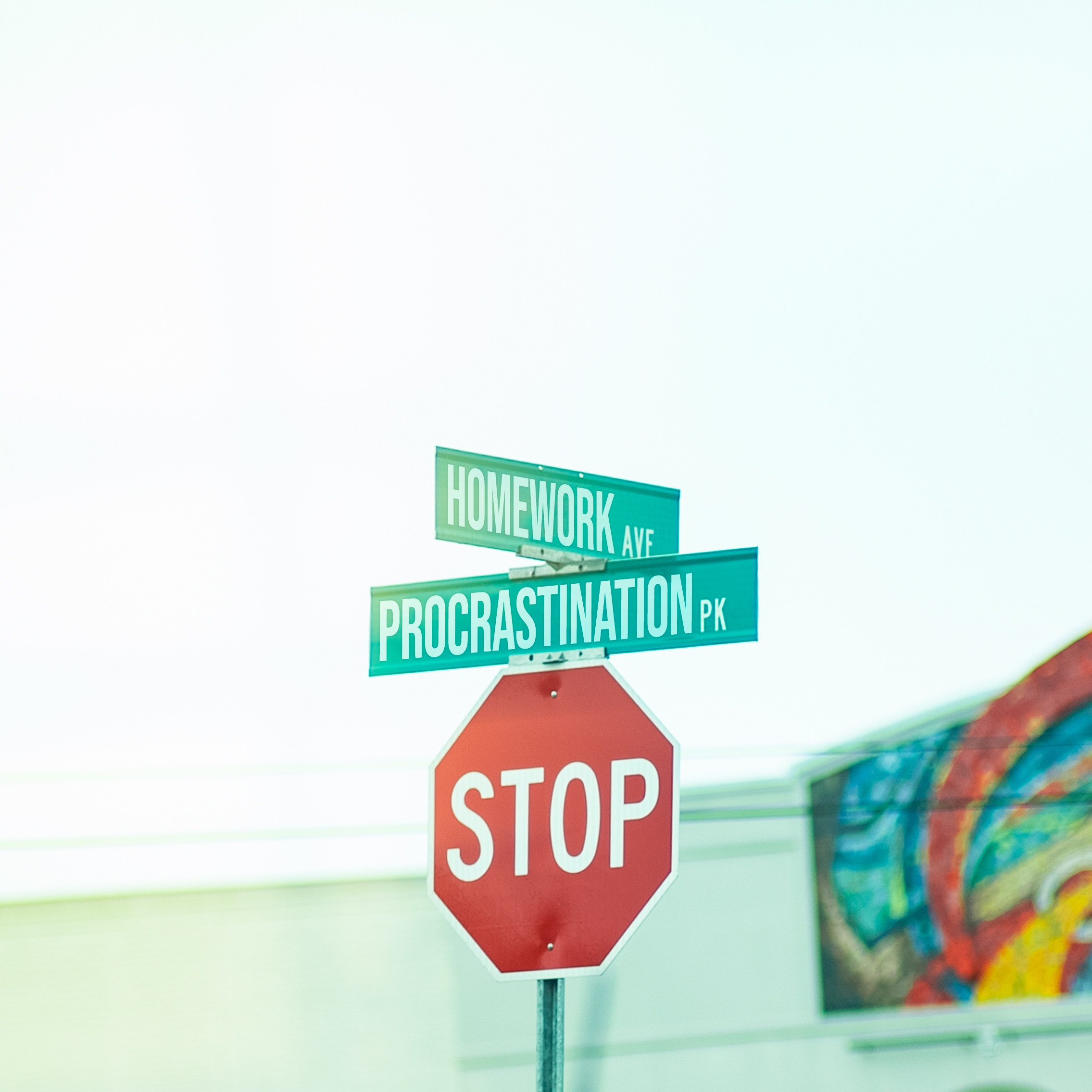 stop sign procrastination sign