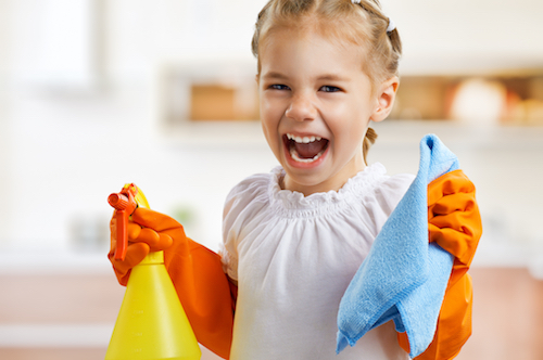 cleaning for mother's day at home