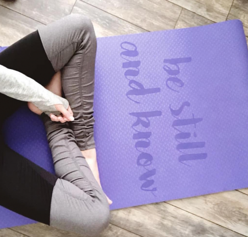 yoga mat inspirational