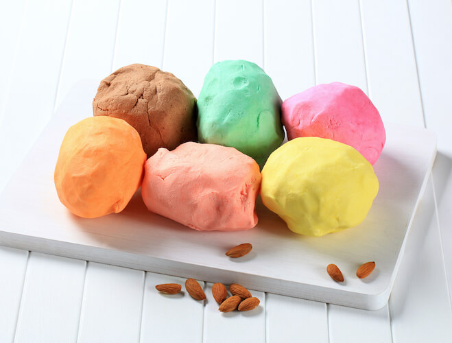 colored almond paste