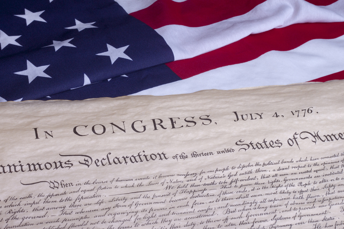 why do we celebrate independence day? history of July 4th. copy of US declaration of independence