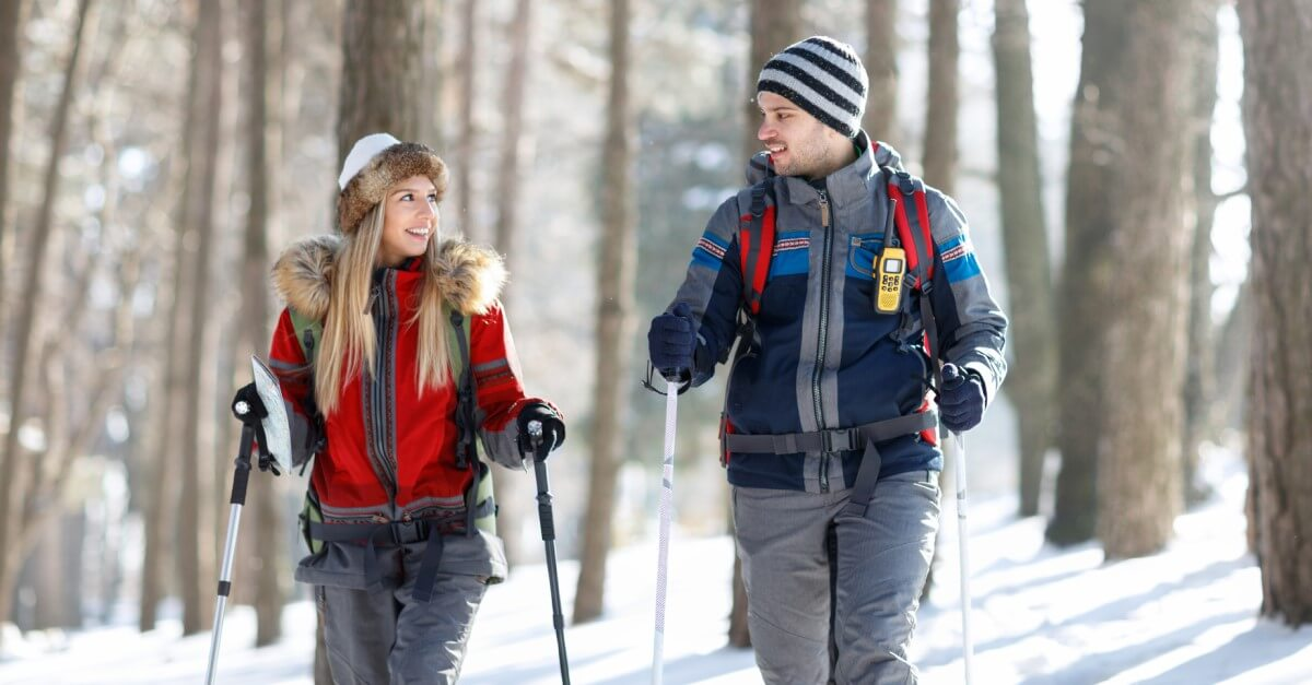 winter hiking workout outdoor