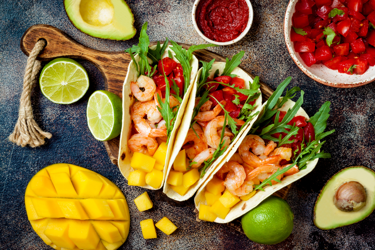 mango recipe with shrimp tacos