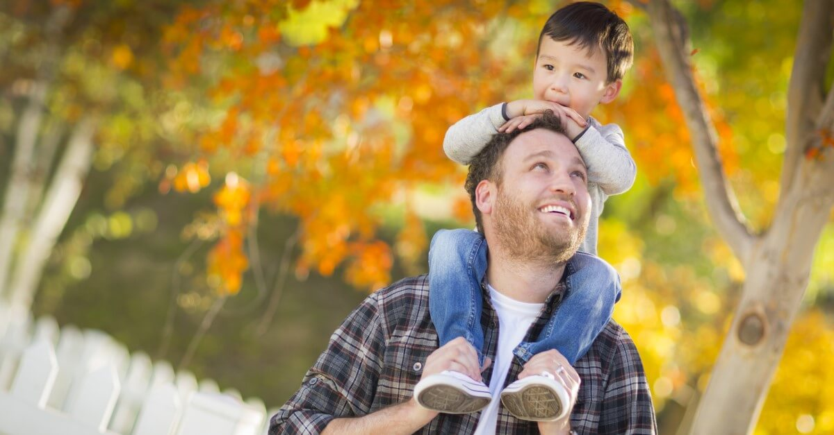 single parent survival tips financial assistance father son fall leaves