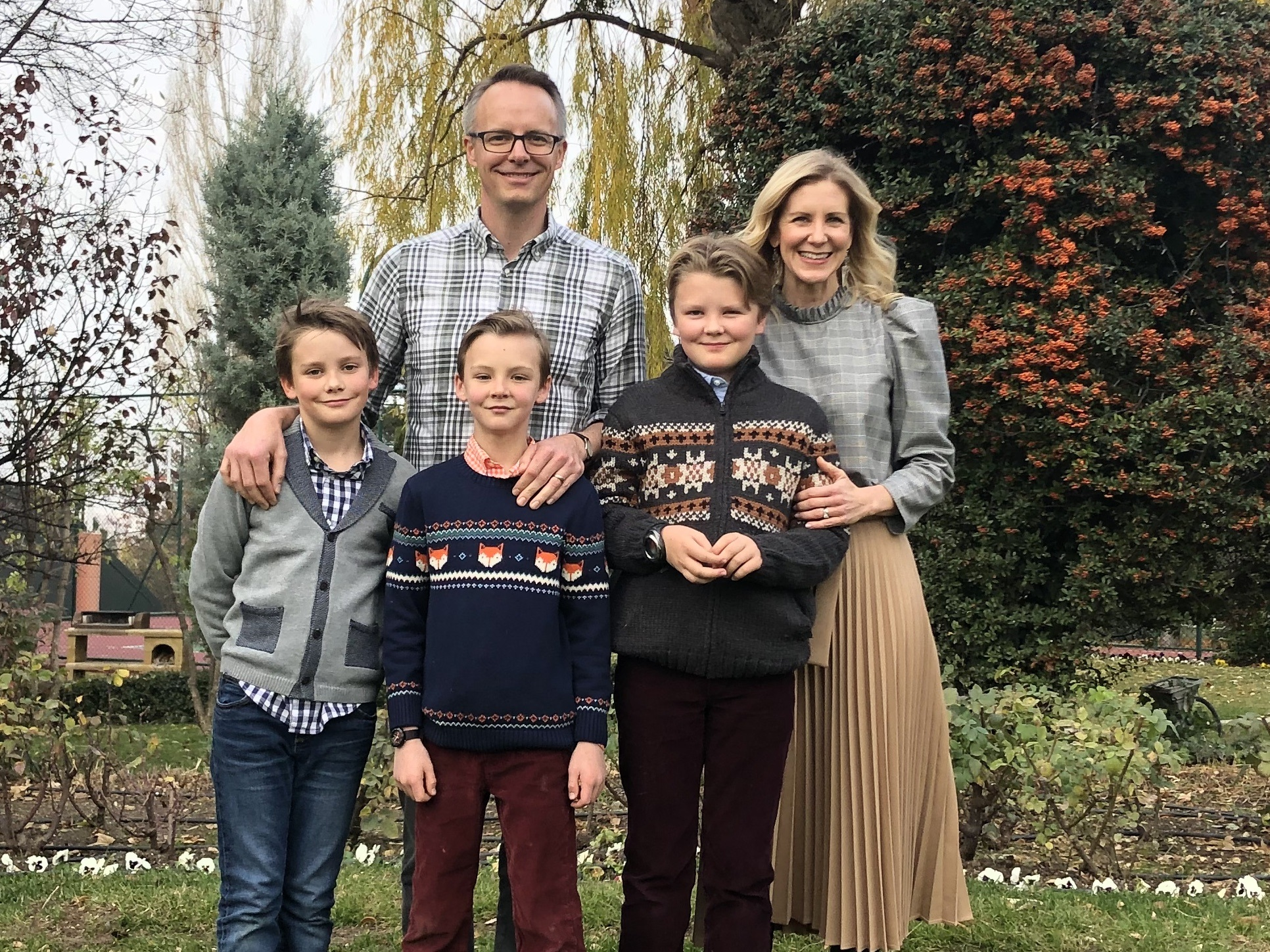 Tailored Diplomat Mom Melisa Donham Welch and family