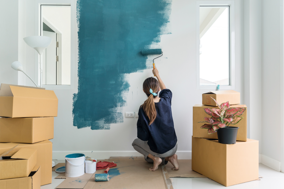 wall painting ideas teal