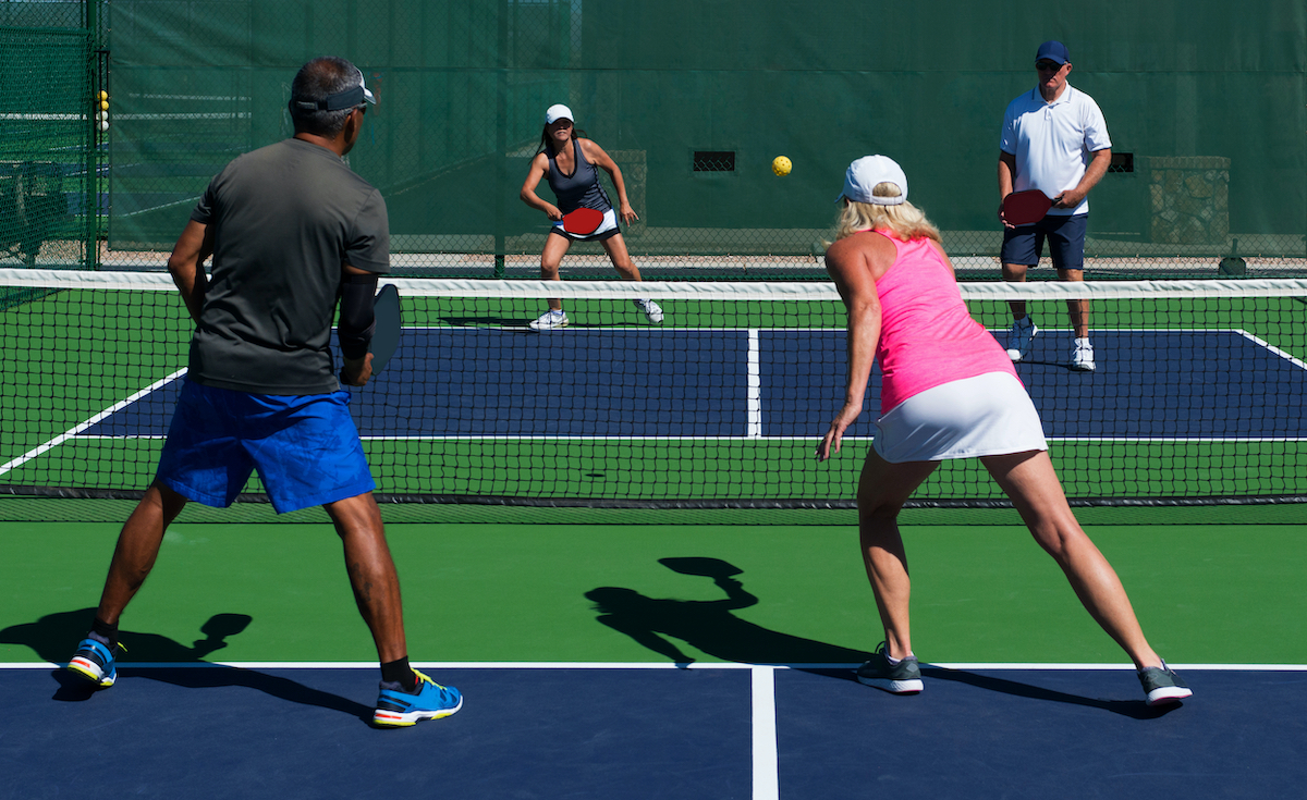 pickle ball mixed doubles